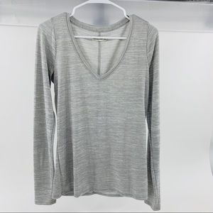 Abercrombie & Fitch Long Sleeve V Neck Tee